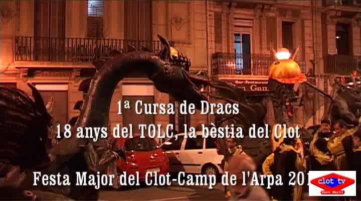 Cursa de Dracs, Festa Major Clot-Camp de l'Arpa 2013